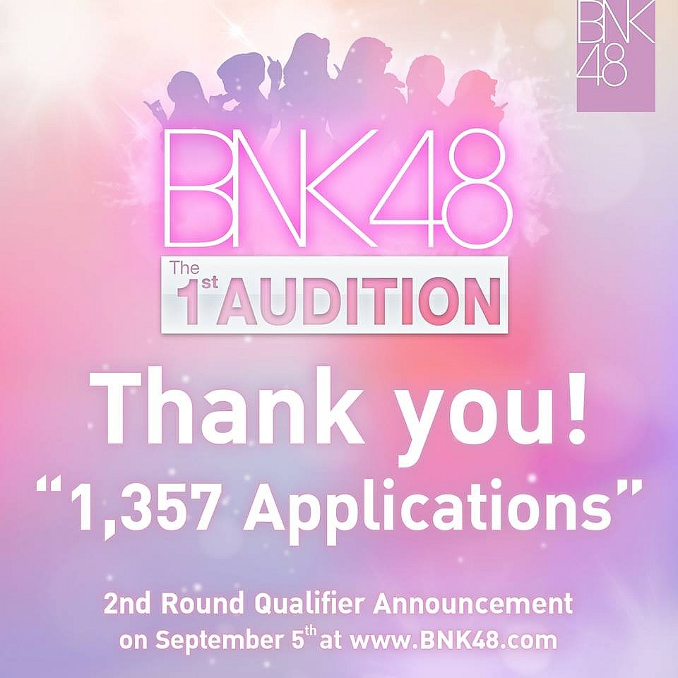 BNK48 The 1st Audition ผู้สมัครทั้งสิ้น 1,357 คน