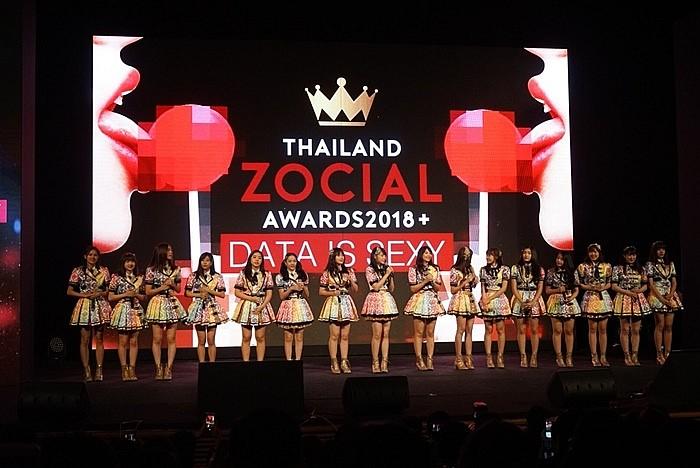 ภาพจาก marketingoops : Thailand Zocial Awards 2018 รางวัลในสาขา ศิลปินกลุ่มที่มีผลงานยอดเยี่ยมบนโซเชียลมีเดีย